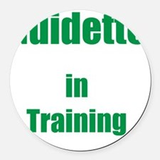 Guidette in training Round Car Magnet
