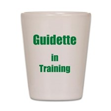 Guidette in training Shot Glass