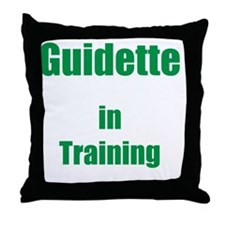 Guidette in training Throw Pillow