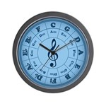 TARDIS Blue Music Circle Of Fifths Wall Clock