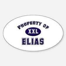 Property of elias Oval Decal