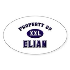 Property of elian Oval Decal