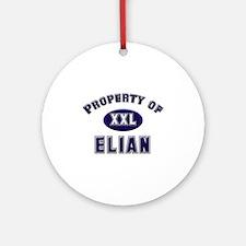 Property of elian Ornament (Round)