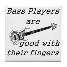good with their fingers Tile Coaster