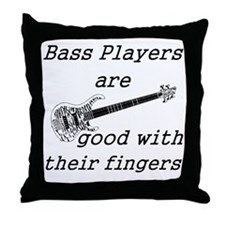 good with their fingers Throw Pillow