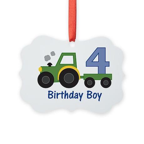 tractor4 Picture Ornament