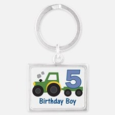 tractor5 Landscape Keychain
