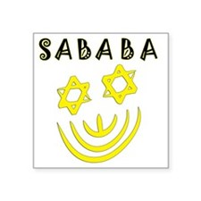 "Yellow and Black Sababa Fac Square Sticker 3"" x 3"""