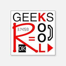 "geeksrcool_KR Square Sticker 3"" x 3"""