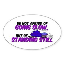 Be Not Afraid Oval Decal
