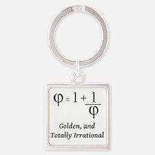 phi-equation-irrational-blackLette Square Keychain