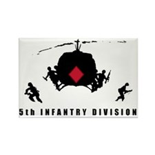 5th INFANTRY DIVISION Rectangle Magnet