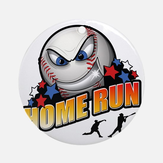Home-run Round Ornament