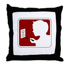 stand_back_darks Throw Pillow