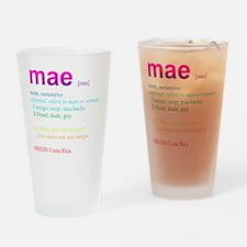 Mae_rainbow Drinking Glass