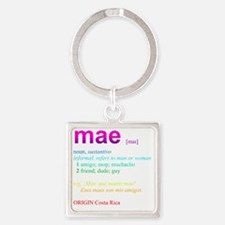 Mae_rainbow Square Keychain