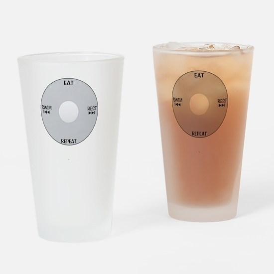 iSwim_wht Drinking Glass