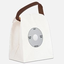 iSwim_wht Canvas Lunch Bag