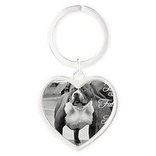 Fathers day pitbull Heart Keychain
