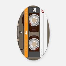 cassette tape vertical Oval Car Magnet