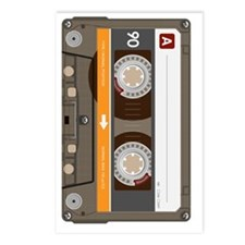 cassette tape vertical Postcards (Package of 8)