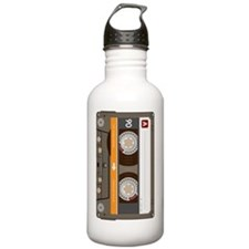 cassette tape vertical Water Bottle