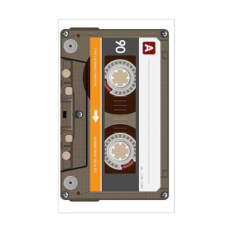 cassette tape vertical Sticker (Rectangle)