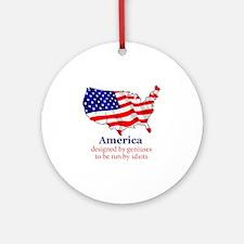 America Round Ornament