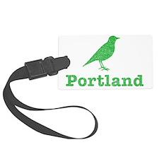 Vintage Green Portland Bird Luggage Tag