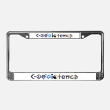 Coexistence License Plate Frame