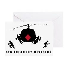 5th INFANTRY DIVISION Greeting Card