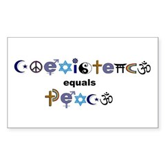 Coexistence = Peace Rectangle Decal