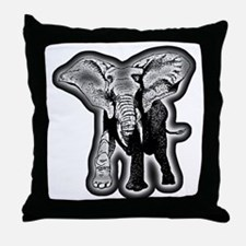 elephant-NEON-CROP Throw Pillow