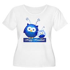 Happy Hanukkah Owls Plus Size T-Shirt