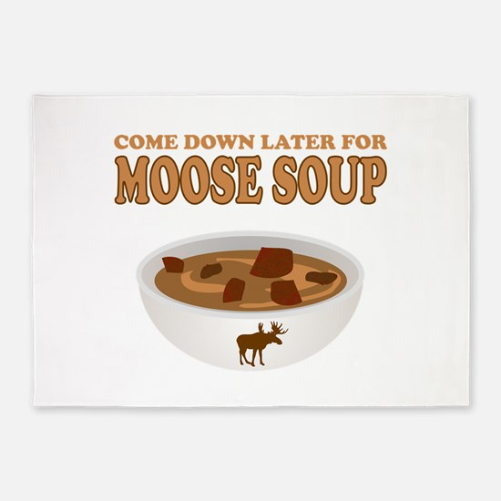 I love Moose Soup 5'x7'Area Rug