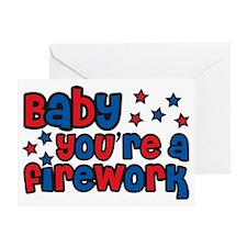 babyfirework Greeting Card