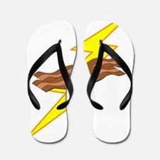 Bacon Lightning Flip Flops
