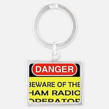 beware ham Landscape Keychain