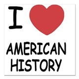American history Square Car Magnets