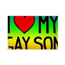 Gay Son Btn3 Rectangle Magnet