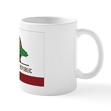 California Surfing Bear Flag Small Mug