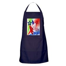 Three Star 4th PosterP Apron (dark)