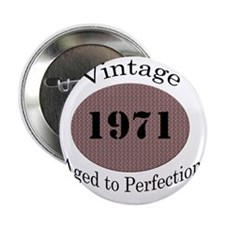 """1971 vintage blk 2.25"""" Button"""