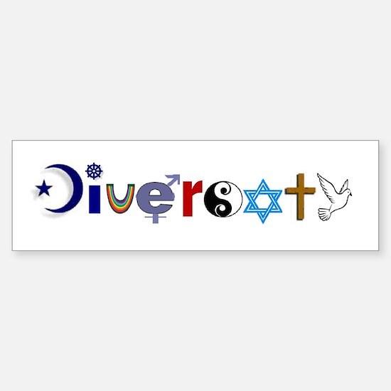 Diversity Bumper Bumper Bumper Sticker