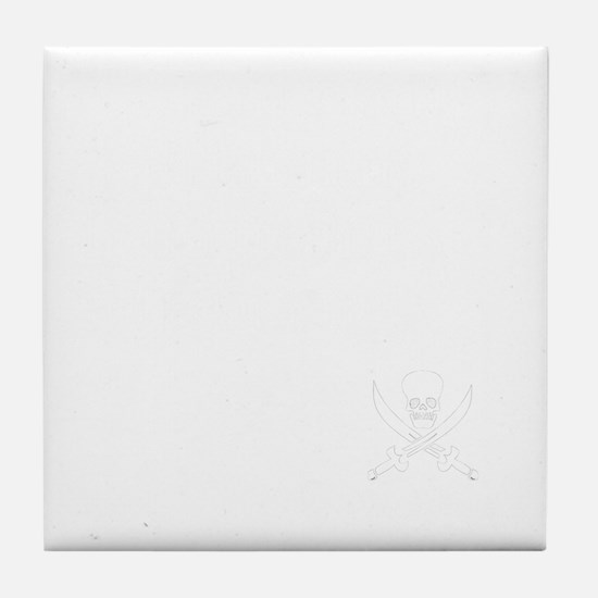 Mutiny for dark Tile Coaster