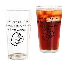 weiner Drinking Glass