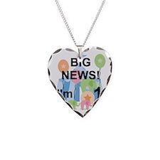 Big News Circus 1st Birthday Necklace Heart Charm
