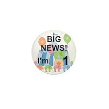 Big News Circus 1st Birthday Mini Button