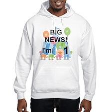 Big News Circus 1st Birthday Hoodie