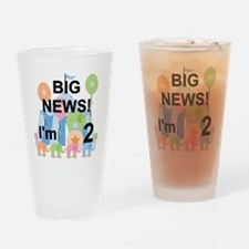 Big News Circus 2nd Birthday Drinking Glass